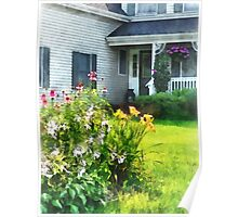 Garden with Coneflowers and Lilies Poster