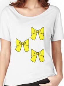 Yellow Bows to cover any holes..... Women's Relaxed Fit T-Shirt