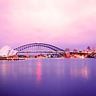 Sunset with operahouse by Baha Mosa