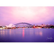 Sunset with operahouse Photographic Print