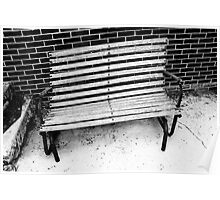Bench warped  by storm Poster