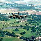 Lancaster B.1 &quot;City of Lincoln&quot; over Burghley House by Colin Smedley