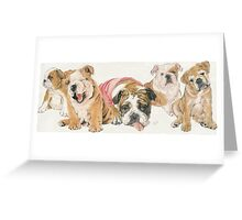 Bulldog Puppies Greeting Card