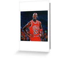 Michael Jordan painting Greeting Card