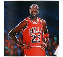 Michael Jordan painting Poster