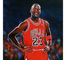 Michael Jordan painting Photographic Print