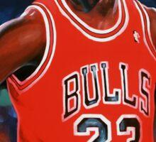 Michael Jordan painting Sticker