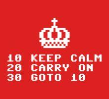 Keep Calm Ad Infinitum - White Text One Piece - Long Sleeve