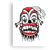 Dark Clown Drawing Canvas Print