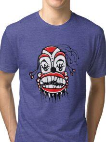 Dark Clown Drawing Tri-blend T-Shirt