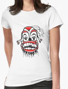 Dark Clown Drawing Womens Fitted T-Shirt