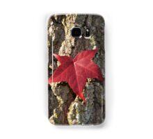 Red Fall Leaf in the Bark Samsung Galaxy Case/Skin