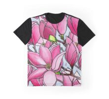 Spring Delight ~ Rose Magnolias Graphic T-Shirt
