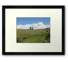 Homestead Under Thunderclouds Framed Print
