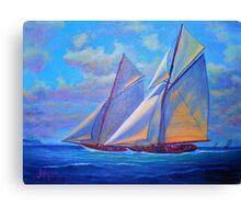 January Sails Canvas Print