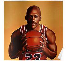 Michael Jordan painting 2 Poster