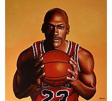 Michael Jordan painting 2 Photographic Print