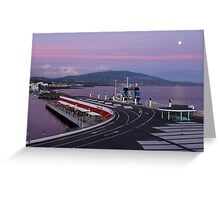 Portas do Mar at dusk Greeting Card