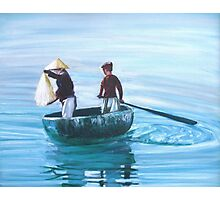 Two Chinese Boys Fishing Photographic Print