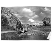 The Bridge . Clouds and texture Poster