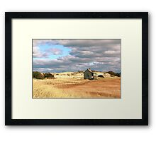 Storm Clouds over Marsh and Dunes Framed Print