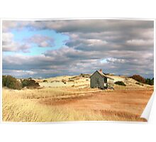 Storm Clouds over Marsh and Dunes Poster
