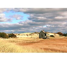 Storm Clouds over Marsh and Dunes Photographic Print