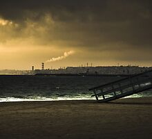 Industrial Beach by ArtfulWestCoast