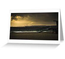 Industrial Beach Greeting Card