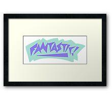 90s Fantastic Graphic Design Framed Print