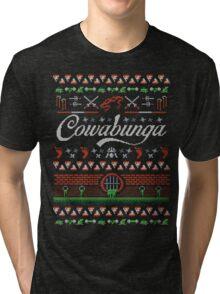 Cowabunga Christmas Tri-blend T-Shirt