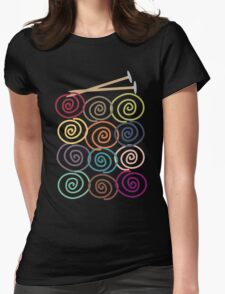 Colorful yarn balls with knitting needles Womens Fitted T-Shirt