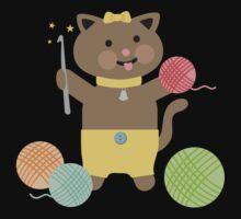 Cute kawaii kitty cat crochet hook Kids Tee