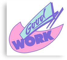 90s Great Work Graphic Design Canvas Print