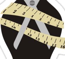 dress dummy sewing mannequin scissors Sticker