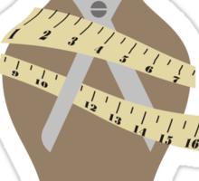 dress dummy sewing mannequin scissors brown Sticker