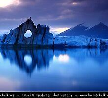Iceland - Jökulsárlón - Mirror, Mirror  by Lucie Debelkova Travel & Landscape Photography