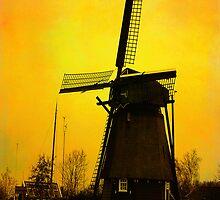 WindMill in Holland by Yvon van der Wijk
