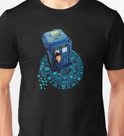Time traveller at Arch of time Zone Unisex T-Shirt