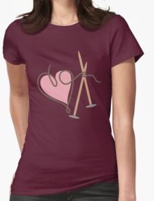 Love knitting needles heart yarn T-Shirt