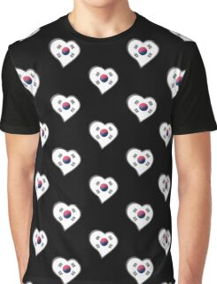 South Korean Flag - South Korea - Heart Graphic T-Shirt