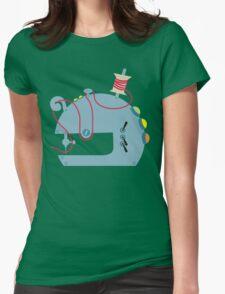 Groovy mod sci-fi sewing machine blue T-Shirt