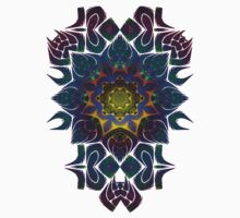 Psychedelic Fractal Manipulation Pattern on White One Piece - Short Sleeve