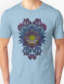 Psychedelic Fractal Manipulation Pattern on White Unisex T-Shirt