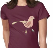 Seamstress bird sewing measuring tape pink Womens Fitted T-Shirt