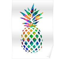 Rainbow Pineapple Poster