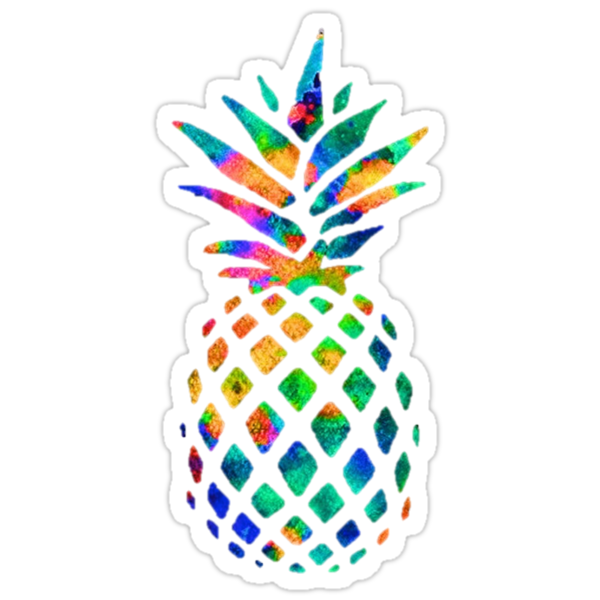 Quot Rainbow Pineapple Quot Stickers By Erinaugusta Redbubble