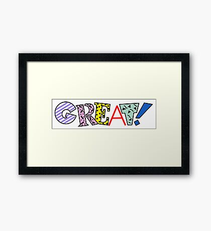 90s Great Graphic Design Framed Print