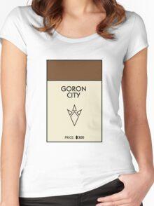 Goron City Monopoly (The Legend of Zelda) Women's Fitted Scoop T-Shirt