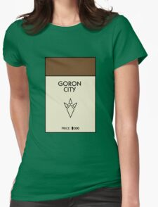 Goron City Monopoly (The Legend of Zelda) Womens Fitted T-Shirt